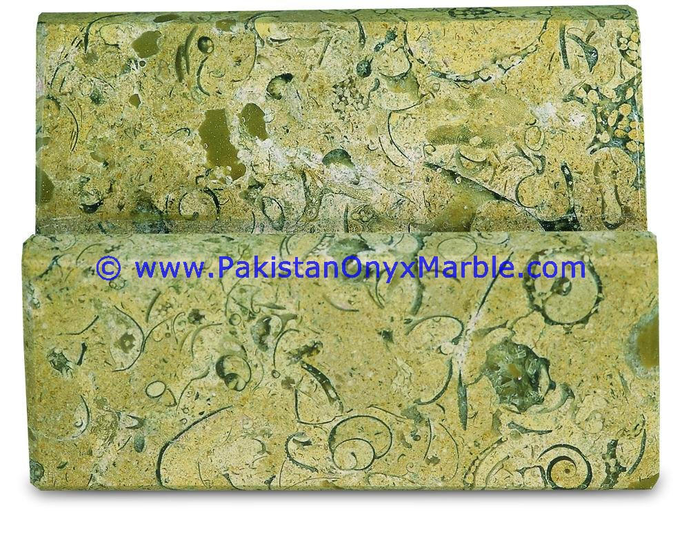 Marble Business Card holder green brown white multi onyx shades ...