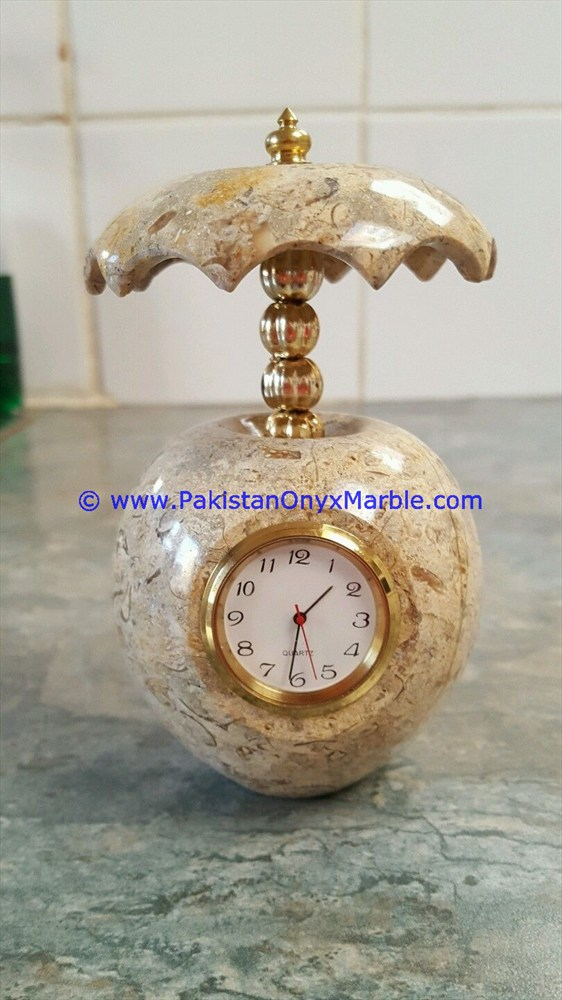 Marble Umbrella Shaped Clock Handcarved Home Decor Gifts 13