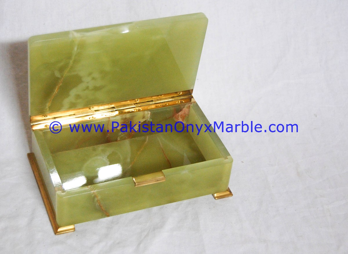 onyx jewelry boxes rectangle Green onyx trinket decorative natural