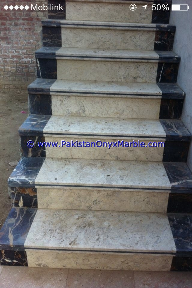 Marble Stairs Steps Risers Black And Gold Marble Modern Design Home Office  Decor Natural Marble Stairs Photo Gallery