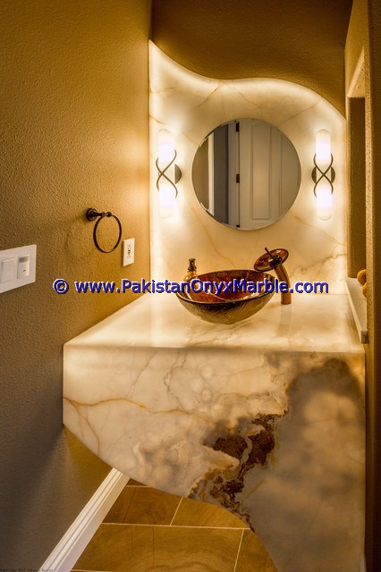 Backlit mirror bathroom