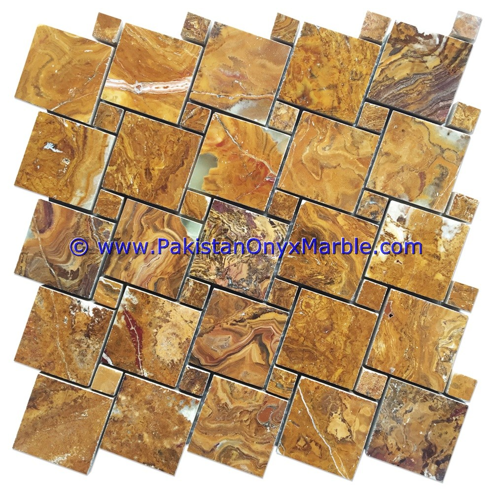 Onyx mosaic tiles multi brown onyx square diamond basketweave brick multi brown onyx mosaic tiles 04 dailygadgetfo Image collections
