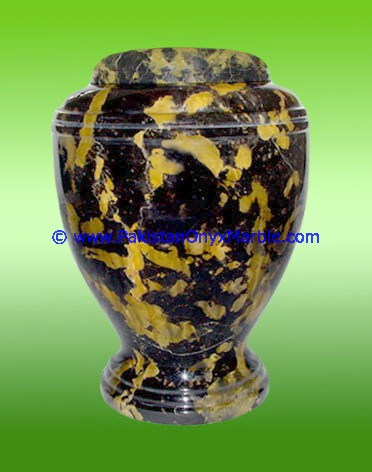 marble urns black and gold marble handcarved adult pet