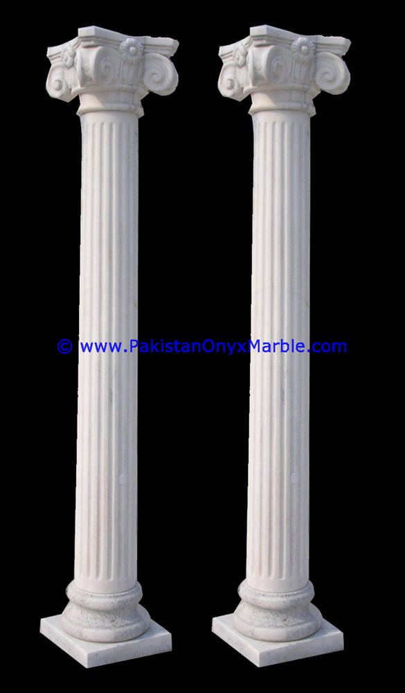 Marble Columns Pillars Hollow Ziarat White Carrara 12