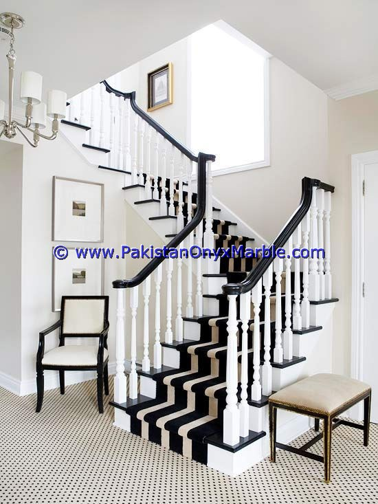 Marble Stairs Steps Risers Jet Black Marble Modern Design Home